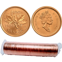1999 Canada 1-Cent Original Roll of 50pcs
