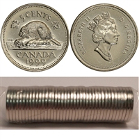 1999 Canada 5-Cents Original Roll of 40pcs