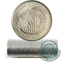 1999 December Canada 25-cent Original Roll of 40 pcs.