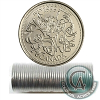 1999 July Canada 25-cent Original Roll