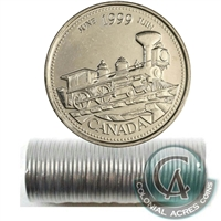 1999 June Canada 25-Cents Original Roll