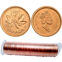 2000 Canada 1-Cent Original Roll of 50pcs