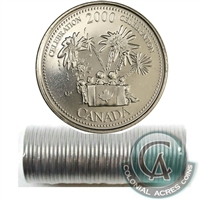 2000 Celebration - July Canada 25-Cents Original Roll of 40 pcs