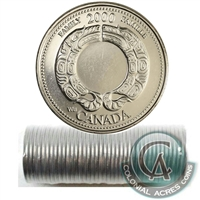 2000 Family - August Canada 25-Cents Original Roll.