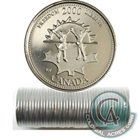 2000 Freedom - November Canada 25-Cents Original Roll.