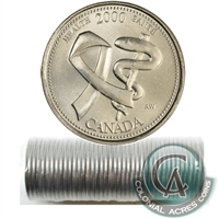 2000 Health - April Canada 25-Cents Original Roll.