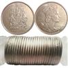 2002P Canada 50-Cents coin roll of 25pcs