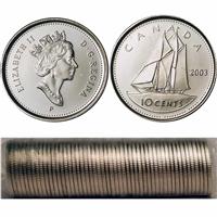 1992 50 pcs Original Mint Roll of Dimes
