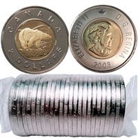 2003 New Effigy Canada Two Dollar Original Roll of 25pcs