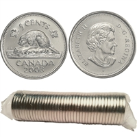 2003-P Canada New Effigy 5-cent Original Roll of 40 pcs.