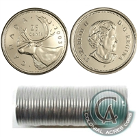 2003-P Canada 25-cent New Effigy Original Roll of 40pcs.