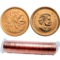 2004-P Canada 1-Cent Original Roll of 50pcs.