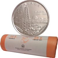 2005-P Alberta Canada 25-Cents Roll - Regular Wrapping