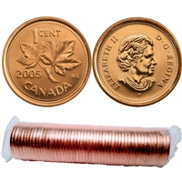2005-P Canada 1-cent Roll of 50pcs