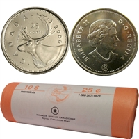 2006-Logo Caribou Canada 25-Cent Original Roll of 40pcs