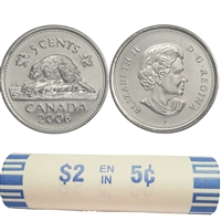 2006-P Canada 5-cent Roll of 40pcs.
