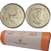 2006-P Caribou Canada 25-Cent Original Roll of 40pcs
