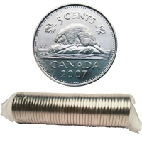 2007 Canada 5-cent Original roll of 40pcs.