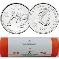 2007 Curling Canada 25-Cents Original Roll of 40pcs