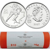 2007 Ice Hockey Canada 25-cent Original Roll of 40pcs