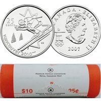 2007 Alpine Skiing Canada 25-Cents Original Roll of 40pcs