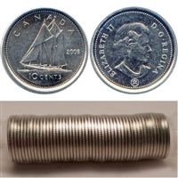 2008 Canada 10-Cents Original Roll of 50pcs -