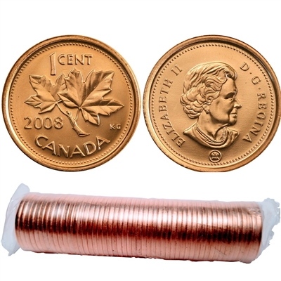 2008 Canada 1-Cent Original Roll of 50pcs