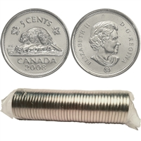 2008 Canada 5-Cent Original Roll of 40pcs