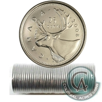 2008 Caribou Canada 25-Cents Original Roll of 40pcs.
