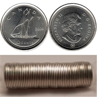 2009 Canada 10-Cent Original Roll of 50pcs.