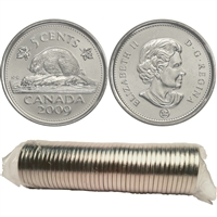 2009 Canada 5-cent Original Roll of 40pcs