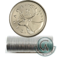 2009 Canada Caribou 25-Cent Original Roll of 40pcs.