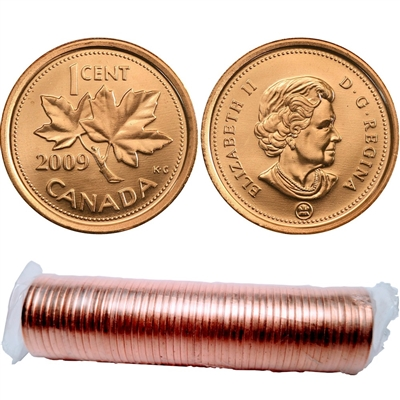 2009 Canada Magnetic 1-Cent Canada Original Roll of 50pcs