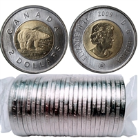 2009 Canada Polar Bear Two Dollar Roll of 25pcs.