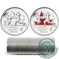 2009 Women's Hockey Canada 25-cent Original Roll of 40pcs (Some coloured)