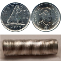 2010 Canada 10-Cents Original Roll of 50pcs.