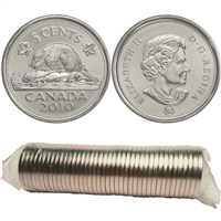 2010 Canada 5-Cents Original Roll of 40pcs