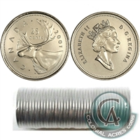2010 Caribou Canada 25-Cents Original Roll of 40pcs