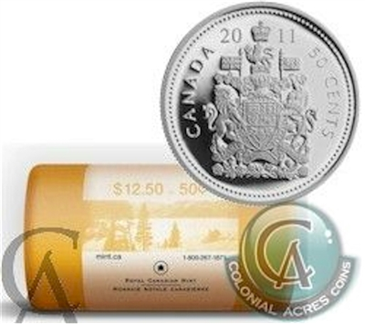 2011 Canada 50-Cent Original Wrapped Roll of 25pcs