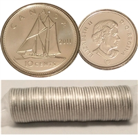 2011 Canada 10-Cents Original Roll of 50pcs
