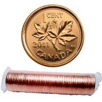 2011 Canada Non-Magnetic 1-Cent Original Roll of 50pcs