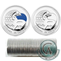 2011 Orca Whale Canada 25-Cents Original Roll of 40pcs - Some Coloured