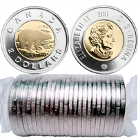 2011 Canada Polar Bear Two Dollar roll of 25pcs