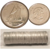 2012 Canada 10-Cent Original Roll of 50pcs.