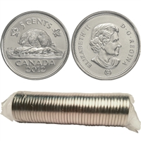 2012 Canada 5-cent Original Roll of 40pcs.