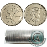 2012 Canada Caribou 25-Cent Original Roll of 40pcs.