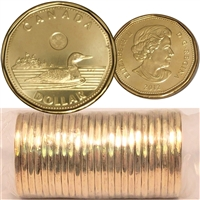 2012 Canada New Generation Loon Dollar Roll of 25pcs.