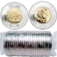 2012 Canada New Generation Polar Bear Two Dollar Roll of 25pcs.