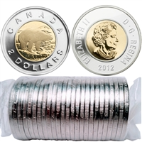 2012 Canada Two Dollar Polar Bear Original Roll of 25pcs (Old Gen)