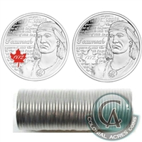 2012 Tecumseh Canada 25-Cents Original Roll of 40pcs - Some Coloured